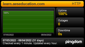 Uptime Report for learn.aeseducation.com: Last 30 days