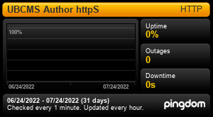 Uptime Report for UBCMS Author: Last 30 days