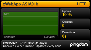 Uptime Report for ManageMySpa (Asia): Last 30 days